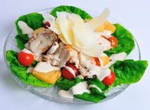 Cajun chicken caesar salad. Starter stock photo