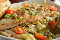 Cajun chicken pasta dish Stock Photo