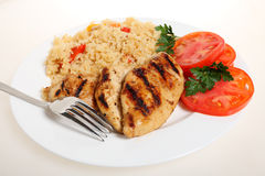 Cajun chicken and rice Stock Photography