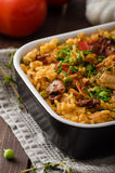 Cajun-Huhn mit Reis lizenzfreie stockfotos