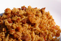 Cajun Jambalaya on White Royalty Free Stock Image