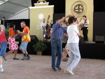 Cajun Music Dancing Royalty Free Stock Photography