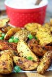 Cajun Potato Wedges stock images