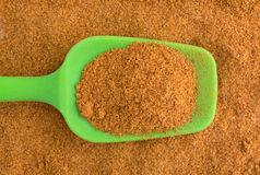 Cajun seasoning on a green spoon Stock Photography