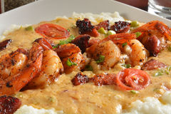 Cajun shrimp and grits Stock Photography