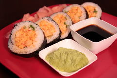 Cajun Sushi Roll Royalty Free Stock Image