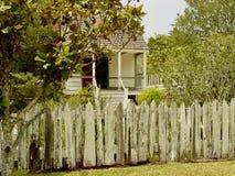 Cajundorp dichtbij Lafayette, Louisiane royalty-vrije stock fotografie