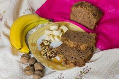 Cake à la banane Images stock