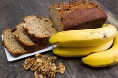 Cake à la banane photographie stock