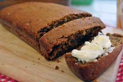 Cake à la banane beurré Photo stock