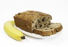Cake à la banane et banane Image libre de droits
