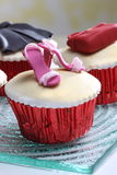 Cake. Delicious desserts with garnish, tasty color settings Royalty Free Stock Image
