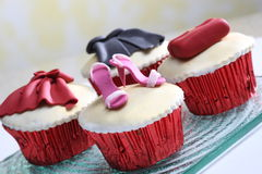 Cake. Delicious desserts with garnish, tasty color settings Stock Image