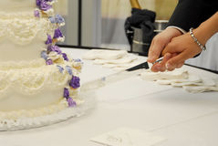 Cake. Wedding cake at the reception Royalty Free Stock Photos