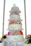 Cake. Wedding cake at the reception Royalty Free Stock Photos