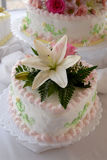 Cake. Wedding cake at the reception Stock Photos