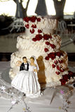 Cake. Wedding cake at the reception Royalty Free Stock Images