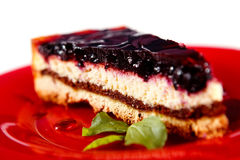 Cake. With bilberry. Macrograph with shallow depth of field Royalty Free Stock Photography