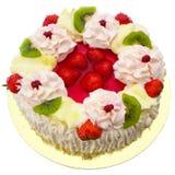 Cake. Strawberry cake isolated on white royalty free stock photos