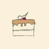 cake stock illustrationer