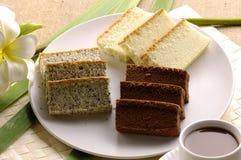 Cake. Piece of chocolate cake and coffee Stock Photos