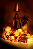 Cake. Fresh Vegetables, Fruits and other foodstuffs. Shot in a studio Royalty Free Stock Photos