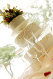Cake. At a wedding reception Royalty Free Stock Image