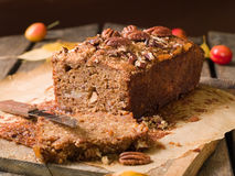 Cake. Nuts and honey cake, selective focus royalty free stock photos