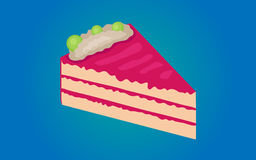 Cake. Vector illustration of a cake on a blue background Stock Photo