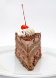 Cake. A piece of cake on a white plate Royalty Free Stock Images
