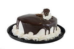 Cake. Chocolate cake with white icing and chocolate glaze Stock Image