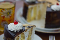 Cake_8. A tasty cake with juice Royalty Free Stock Photos