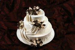Cake. A heart cake on a plateau royalty free stock photo