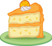 Cake. An illustration of a slice of cake Royalty Free Stock Image