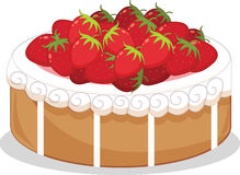 Cake. An illustration of a birthday cake Royalty Free Stock Photo
