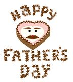 Cake. Happy father's day cake vector Stock Photography