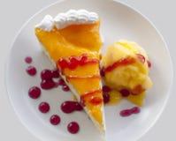 Cake02 alaranjado Fotos de Stock