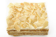 Cake with almond slices Royalty Free Stock Photo