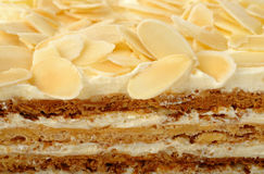 Cake with almond Royalty Free Stock Photo