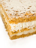 Cake almond with whipped cream and cream Stock Image