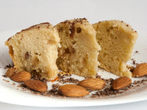 Cake with almonds Royalty Free Stock Photography