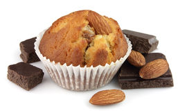 Cake with almonds Royalty Free Stock Image