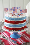 Cake with American flags Stock Photos