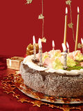 Cake And Candles Stock Image