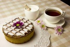 Cake And Tea Royalty Free Stock Photos