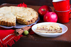 Cake with apple filling Royalty Free Stock Photos