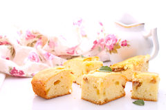 Cake with apples Stock Images