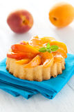 Cake with apricot Royalty Free Stock Photography