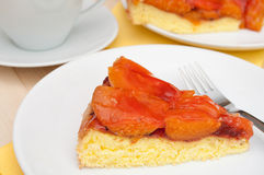 Cake With Apricots Stock Images