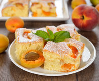 Cake with apricots Royalty Free Stock Photo